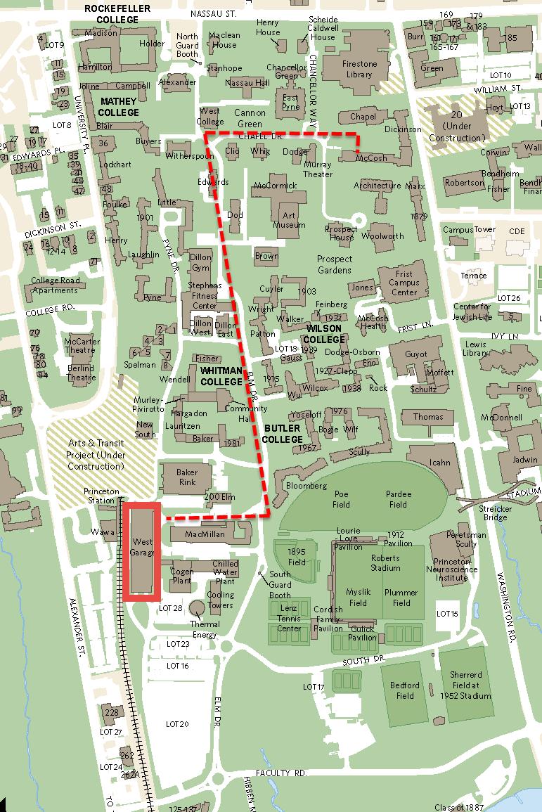 Banff Film Festival Parking Map