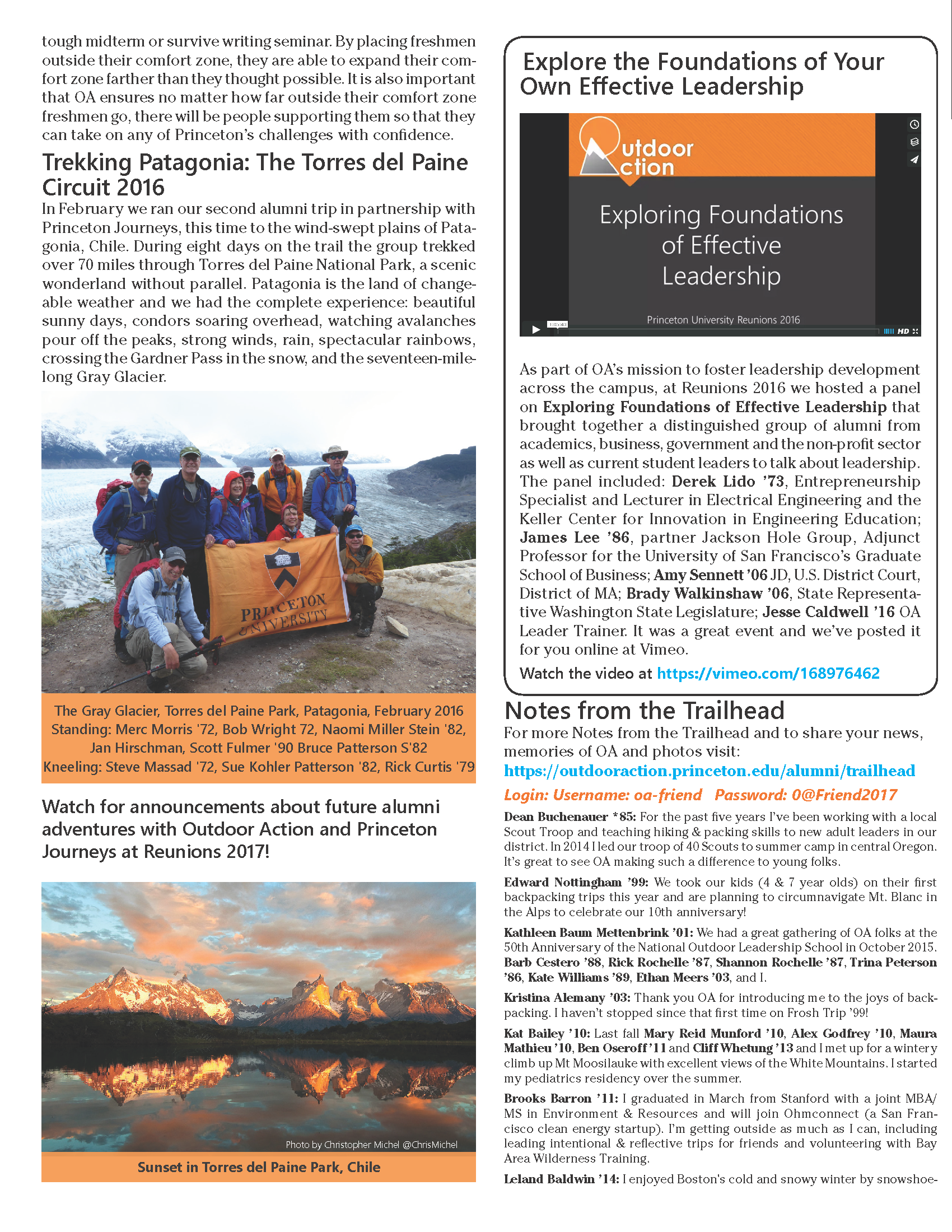 Tiger Trails newsletter page 4