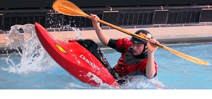 kayaker 2 in pool